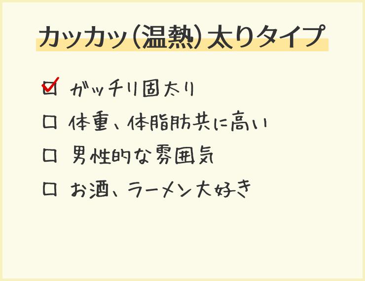 カッカッ(温熱)太りタイプ
